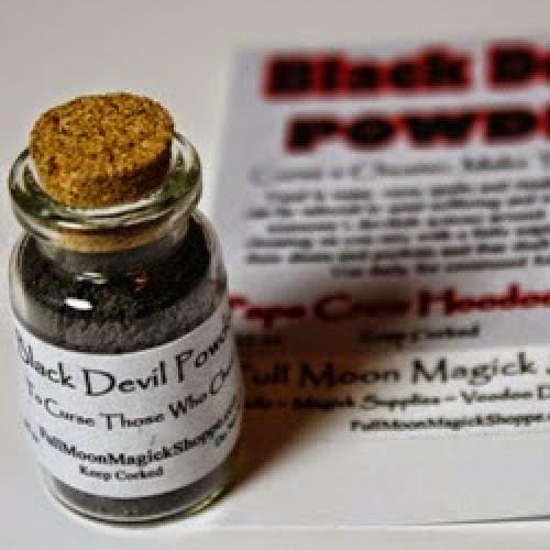 Black Devil Powder Corked Bottle