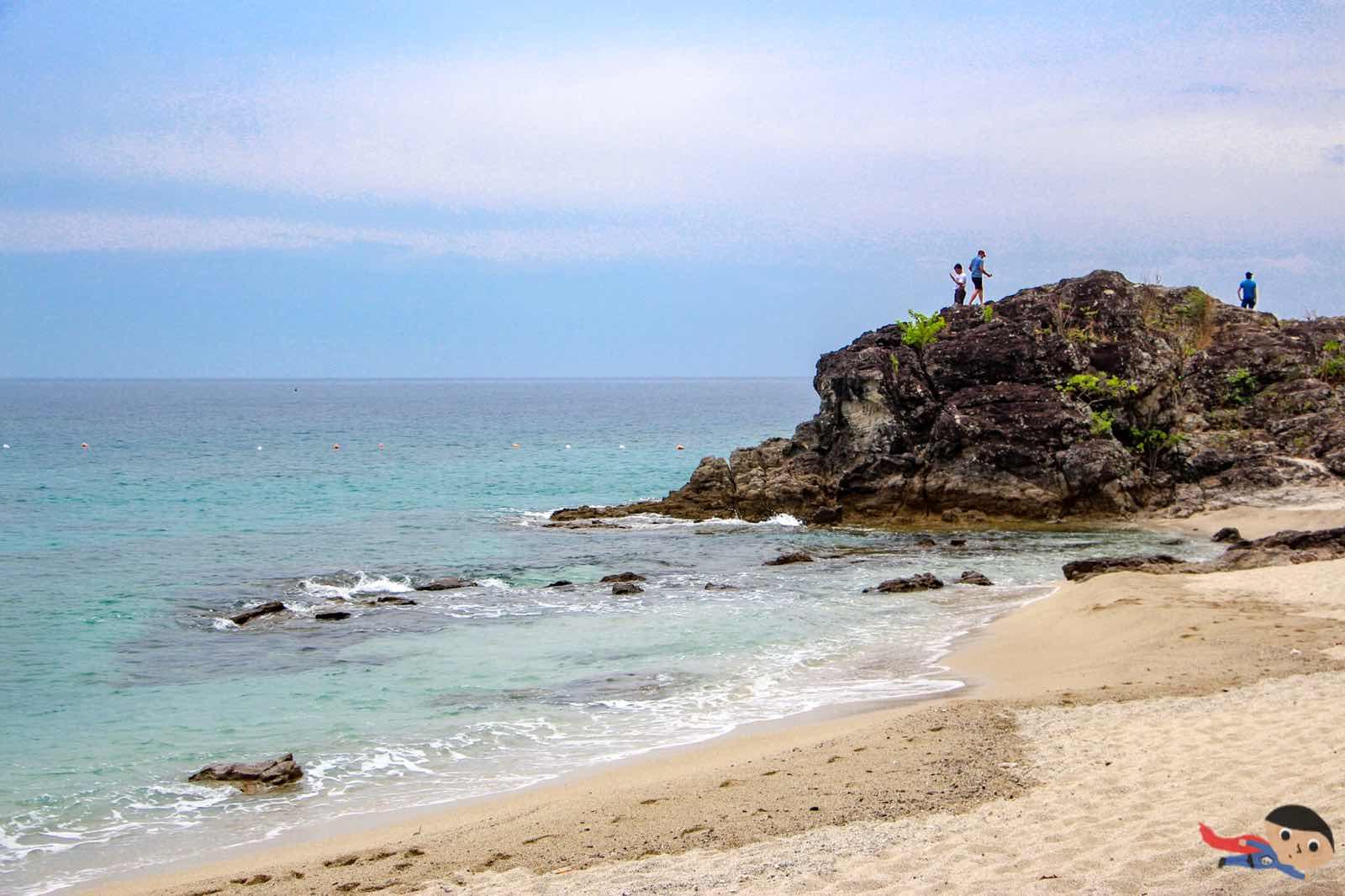 Rock formation in Tayabas Bay, La Luz Beach Resort