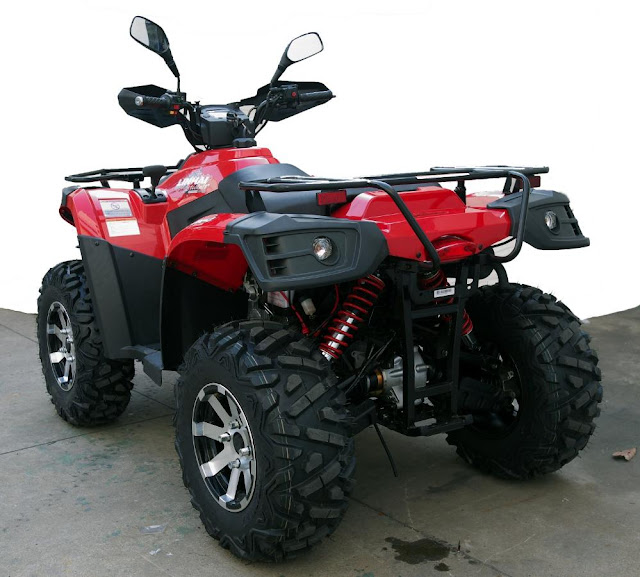 500 Linhai Yamaha ATV Farm 4x4 Quad Bike Red Rear