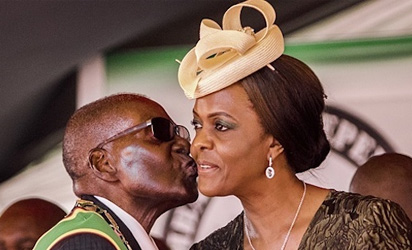 Robert Mugabe and Grace Mugabe