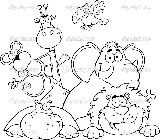 Jungle Animals Online Coloring Pages Page