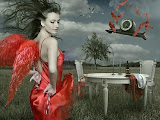 Red Angel And Clocks Of Destiny