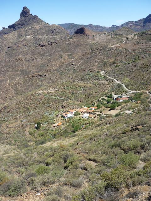 kleines Dorf in Gran Canarias Bergen
