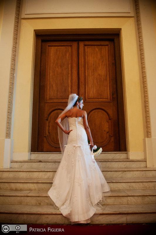 Foto de casamento 0289 de Paloma e Marcelo. Marcações: 06/11/2010, Casamento Paloma e Marcelo, Fotos de Vestido, Heloisa Albuquerque, Rio de Janeiro, Vestido, Vestido de Noiva.