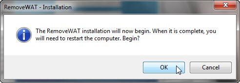 """วิธีแก้ไขเมื่อ Windows 7 เกิดอาการ """"จอดำ"""" RemoveWat006"""