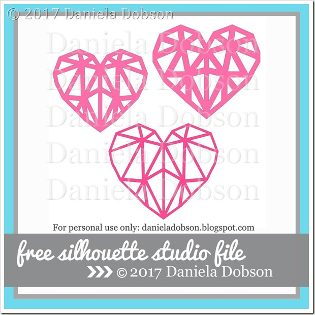 Diamond hearts by Daniela Dobson