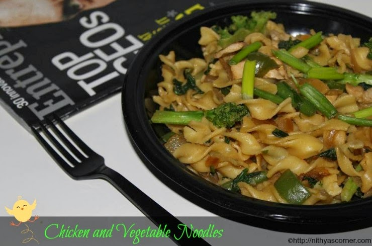 how to make chicken vegetable noodles recipe