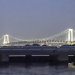 rainbow bridge in Odaiba Tokyo by night in Odaiba, Tokyo, Japan