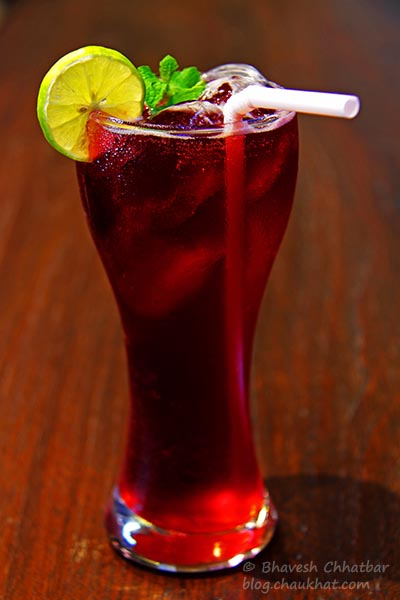Hibiscus Iced Tea at Frisco, Koregaon Park, Pune