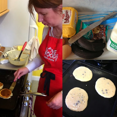 Black Banana & Choc Chip Pancakes. Aberdeen Forward - Love Food Hate Waste