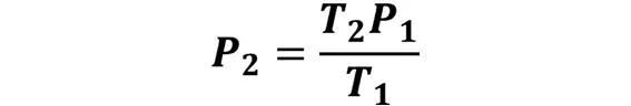 Las leyes de los gases: de boyle, de Charles, de Gay Lussac, de Avogadro y de Dalton - Despeje de la ley de Gay-Lussac cuando se desconoce P2 pero se conoce P1, T1 y T2 - sdce.es - sitio de consulta escolar
