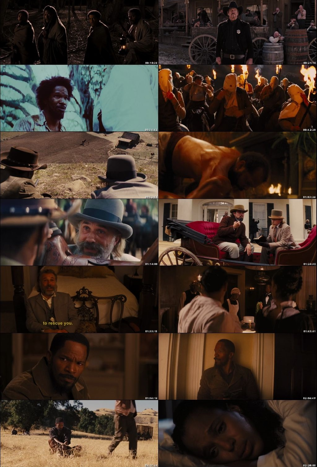 Screen Shot Of Django Unchained 2012 In Hindi English Dual Audio Bluray