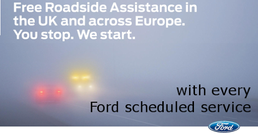 FREE European Roadside assistance with Ford scheduled servicing