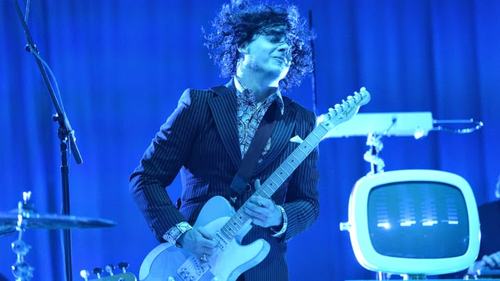 Jack White rockin' out on stage at Bonnaroo 2014