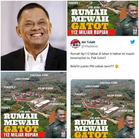 Disebut Kesempitan, Publik Bongkar Rumah Mewah Gatot Rp112 Miliar: Kok Masih Jualan PKI?
