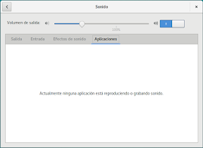 Configurar el hardware en GNOME. El sonido. Aplicaciones.