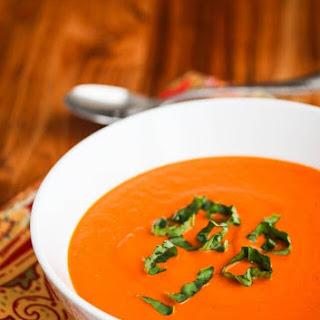 Copycat Panera Creamy Tomato Basil Soup.