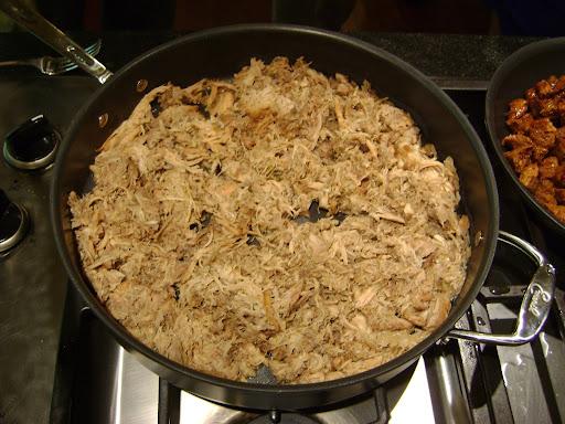 Pulled pork for Tim's tacos