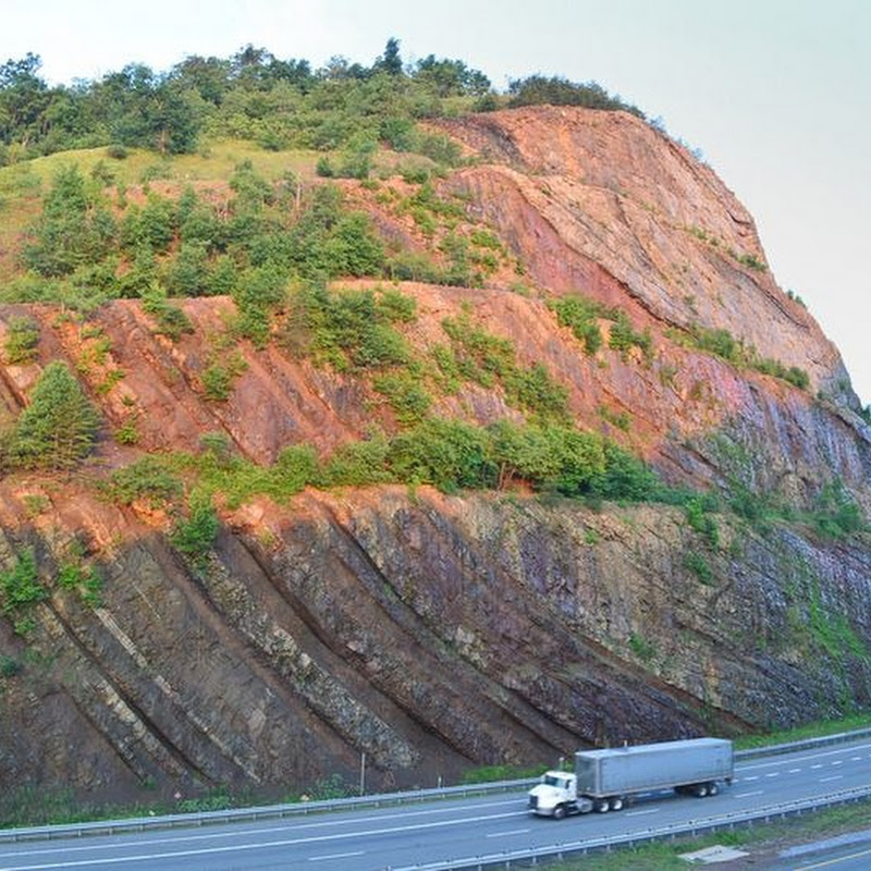 The Folded Rocks of Sideling Hill Road Cut