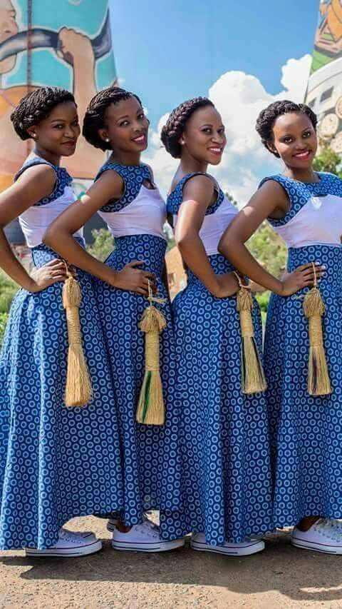 Modern shweshwe dresses style 2017 styles 7