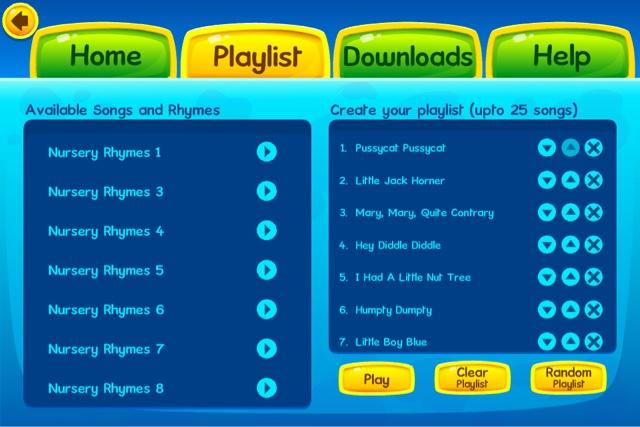 KidloLand app Playlist section
