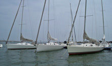J/105 sailboats- fleet ready to sail in Chile
