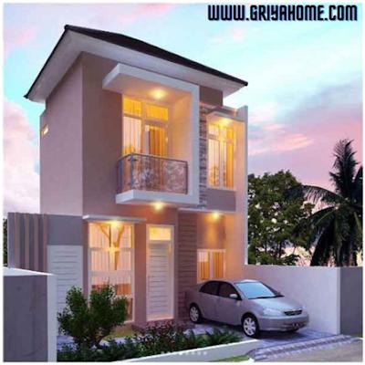 Desain Rumah Minimalis di sudut Perkotaan Kecil.