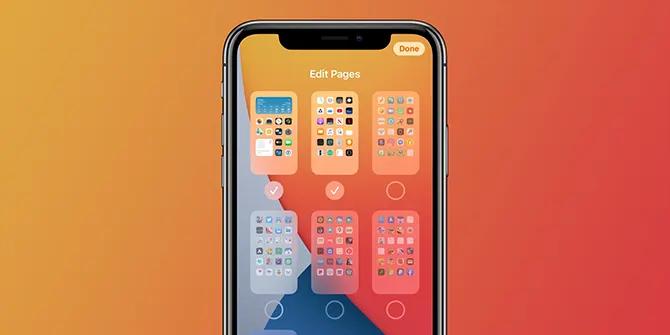 طريقة إخفاء صفحات التطبيقات على ايفون في iOS 14