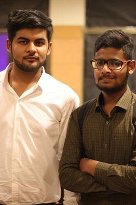 Mohsin Zia with Mohammad Mustafa Ahmedzai