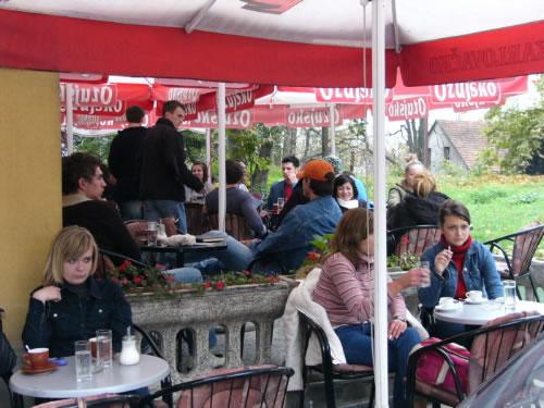 Bihac - University students. The University of Bihac was opened in 1997