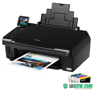 How to reset flashing lights for Epson TX550W printer