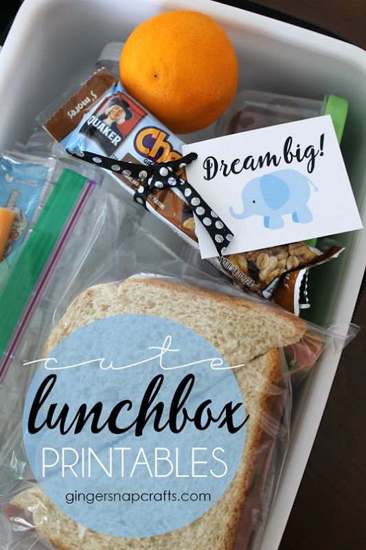 Cute Lunchbox Printables at GingerSnapCrafts.com #ad