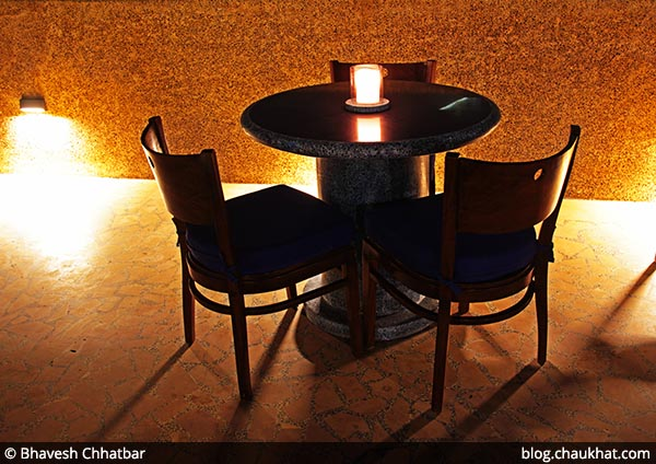 Seating at rooftop at Dezio, Kalyani Nagar, Pune