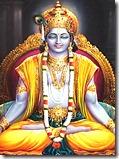 [Krishna meditating]