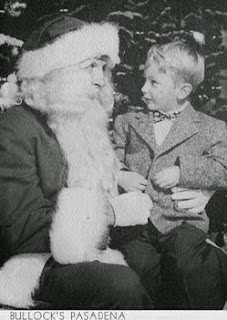 My first Christmas visit with Santa in Pasadena, CA.