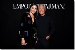 Giorgio Armani e Olivia Culpo - SGP