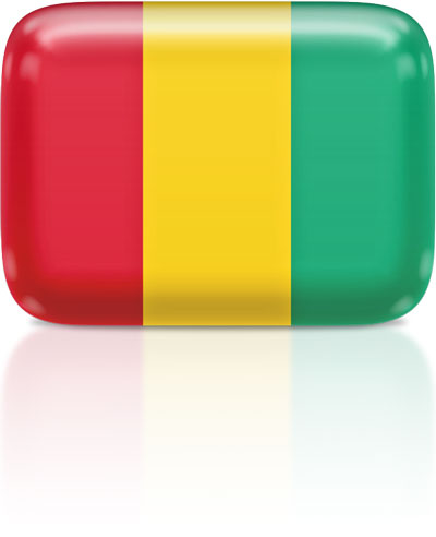 Guinean flag clipart rectangular