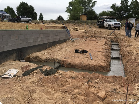 footings poured for master bedroom and bath