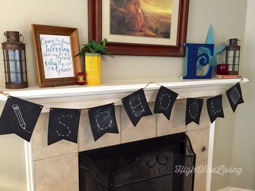 first day of school mantle