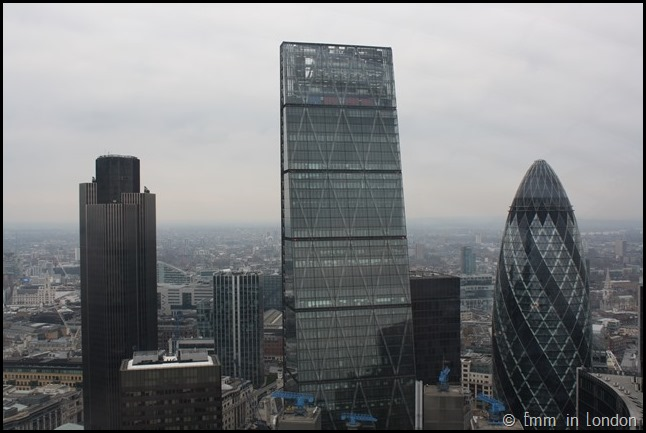 The Cheese Grater and the Gherkin from the Sky Garden