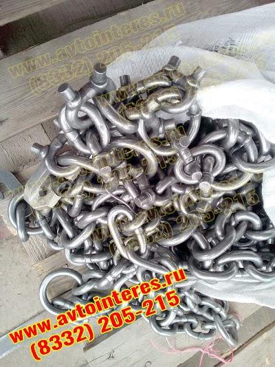 Шипованые цепи на погрузчик 17,5R25