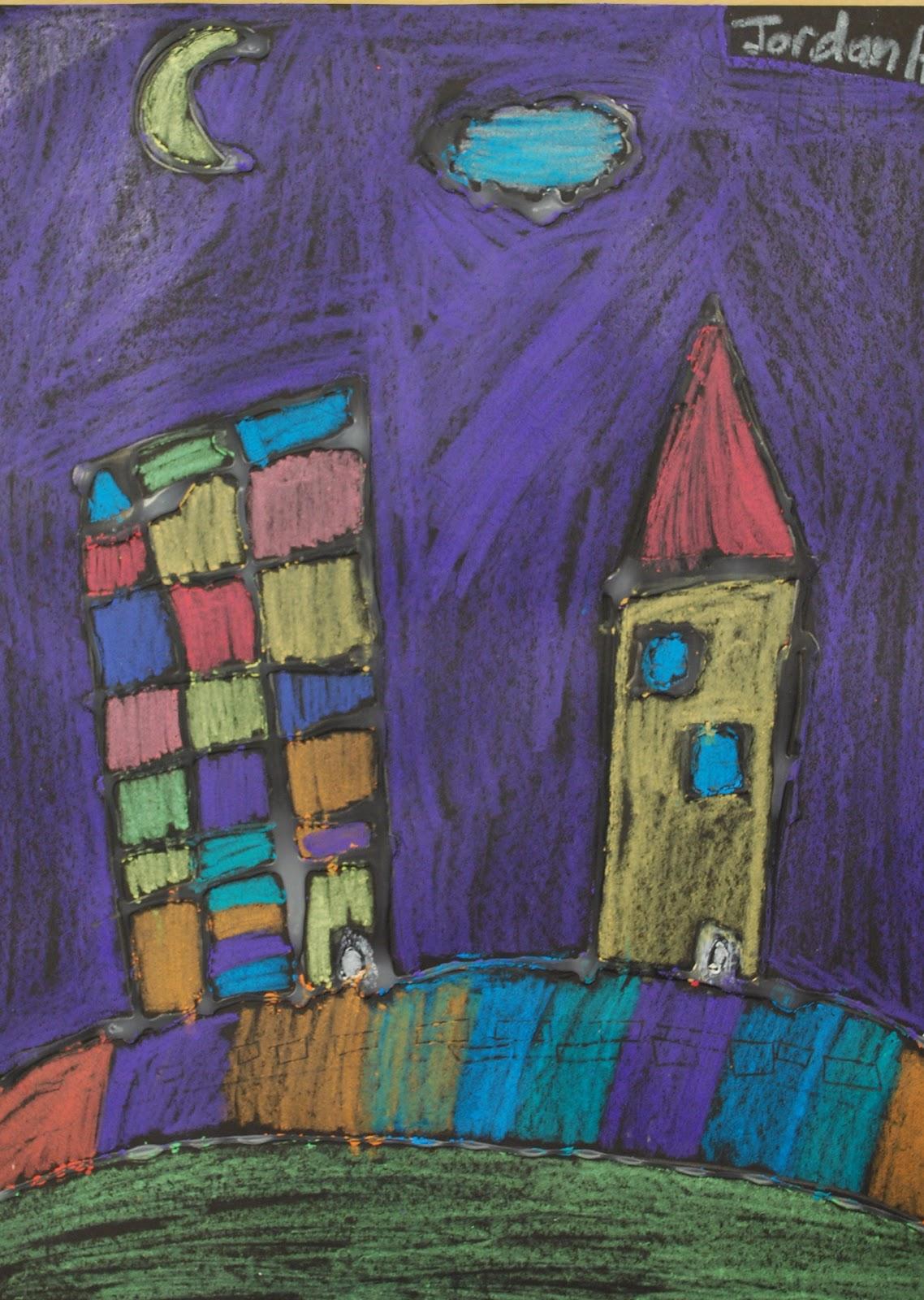 Adventures Of An Art Teacher 2nd Grade Cityscapes