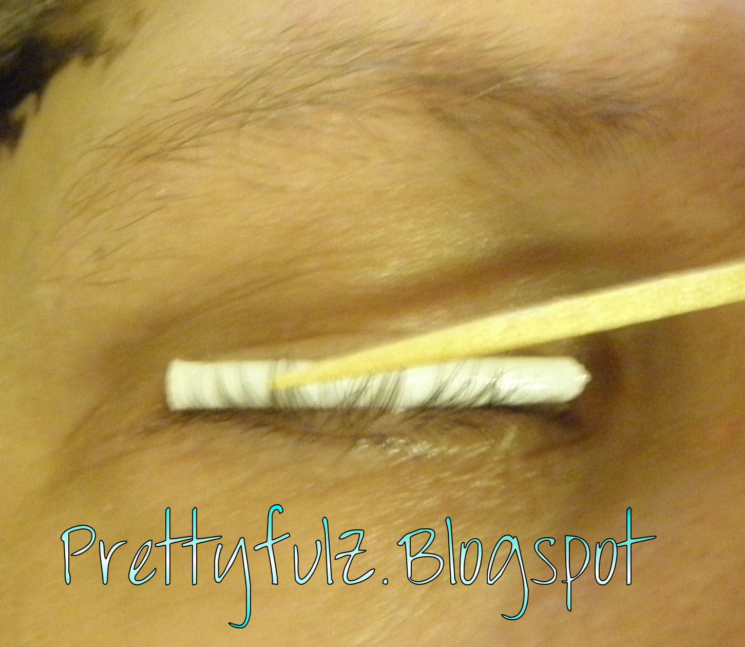 Prettyfulz how to perm your eyelashes at home diy using a toothpick sweep the eyelashes up onto the rod and gently press them against the rod to get them to stick try to keep the eyelashes in order solutioingenieria Gallery