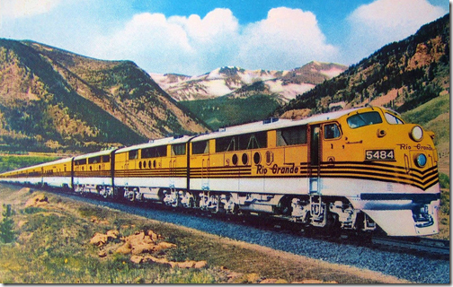 "The Denver and Rio Grande Railroad train, ""The Prospector,"" traveled Salt Lake City to Denver back in the 50s."