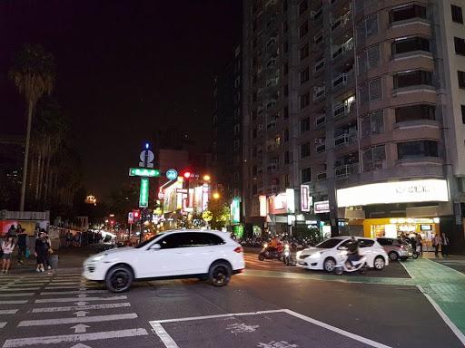 Night time in Kaohsiung in Taiwan