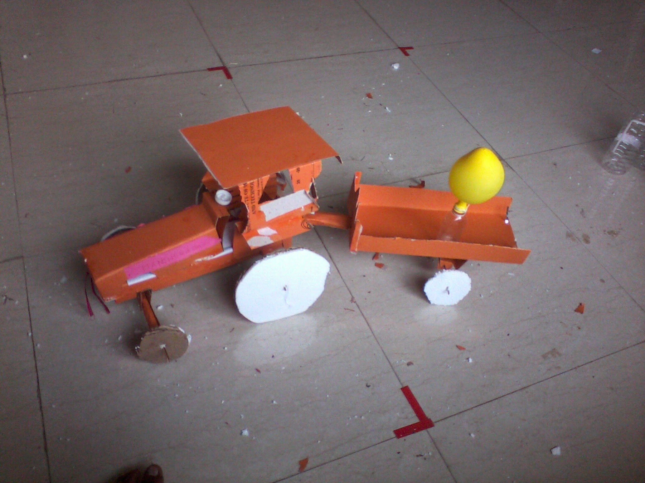 Waste To Best Tractor Created By Me And My Friend Pratik Gajare Biogasplantdiagram I This From For Competition