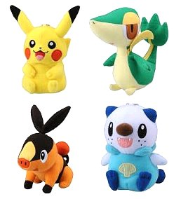 Pokemon Plush BW Mini Talkie Plush Pikachu Snivy Tepig Oshawott Tomy