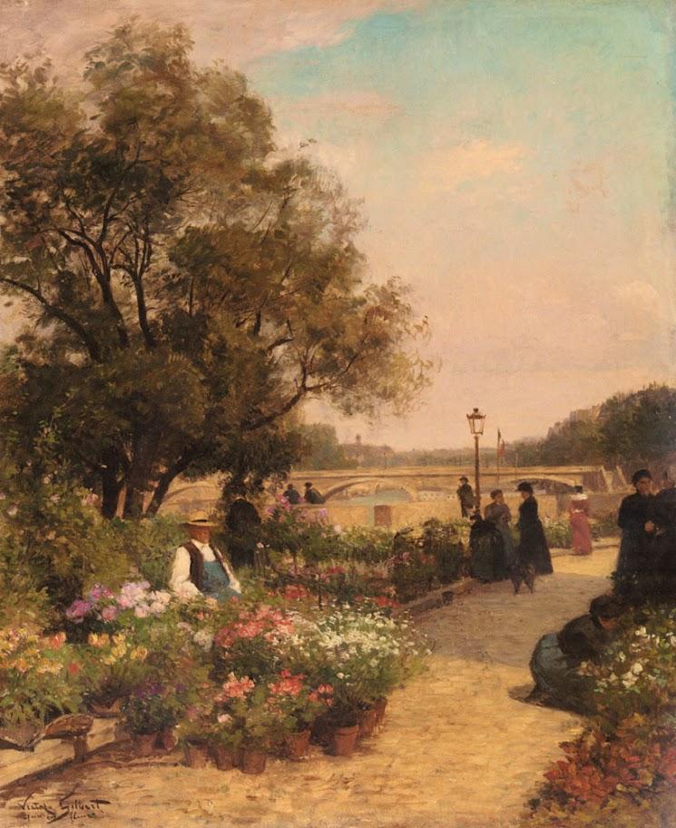 Alfred Stevens - Quai Aux Fleurs
