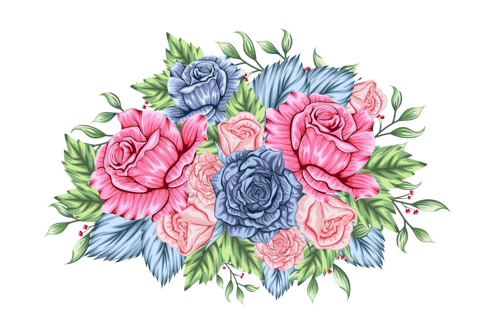 Beautiful Mixed Bouquet Flowers Free Download Vector CDR, AI, EPS and PNG Formats