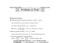 Khairuls Advanced Math থেকে ট্রেন সম্পর্কিত সকল অঙ্কের PDF ফাইল
